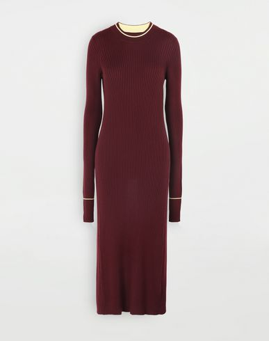 DRESSES Open-back long top Maroon