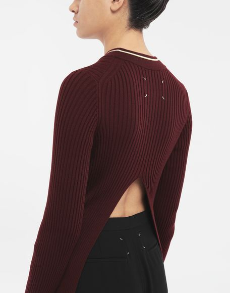 MAISON MARGIELA Open-back long top 3/4 length dress Woman a