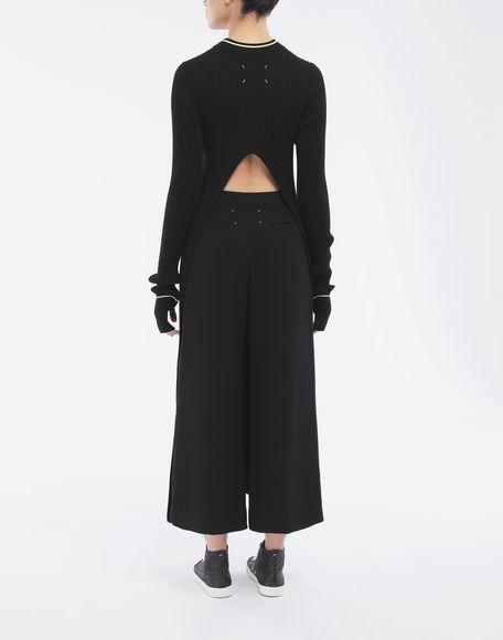 MAISON MARGIELA Open-back long top 3/4 length dress Woman e