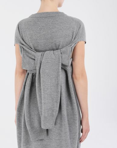 DRESSES Sweater cut-out dress Grey