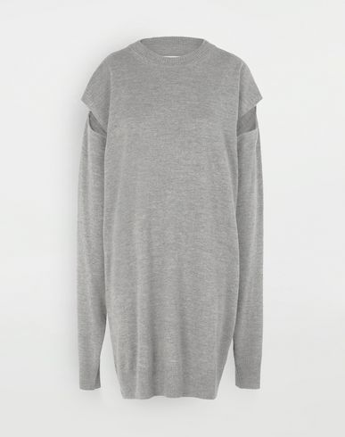 MAISON MARGIELA Sweater cut-out dress Short dress Woman f