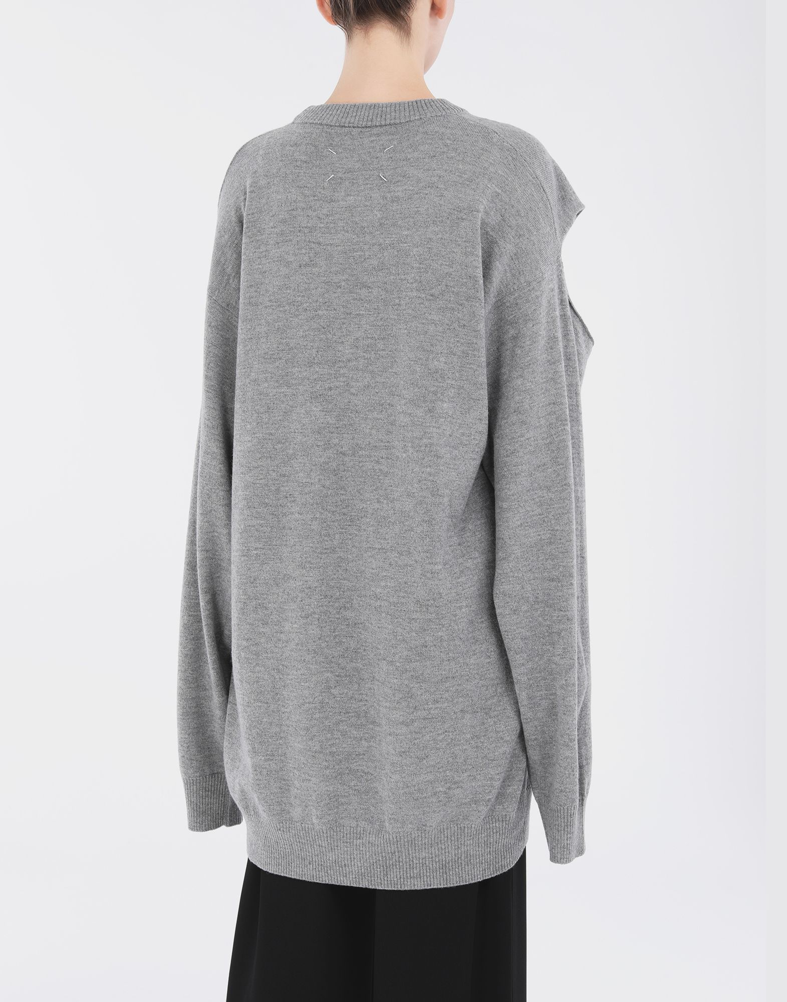 MAISON MARGIELA Sweater cut-out dress Dress Woman e