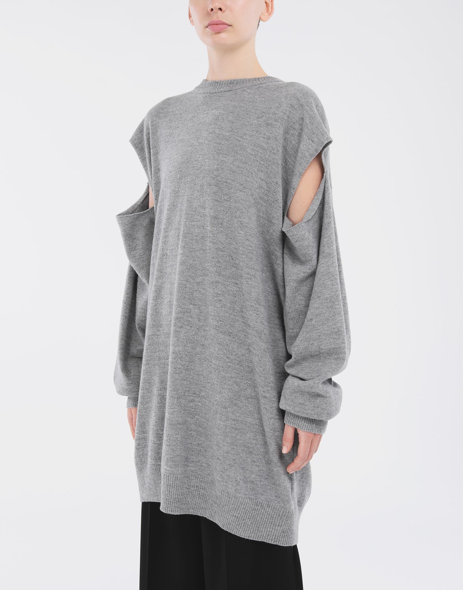 MAISON MARGIELA Sweater cut-out dress Short dress Woman r