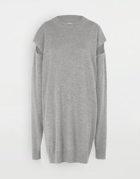 MAISON MARGIELA Sweater cut-out dress Dress Woman f