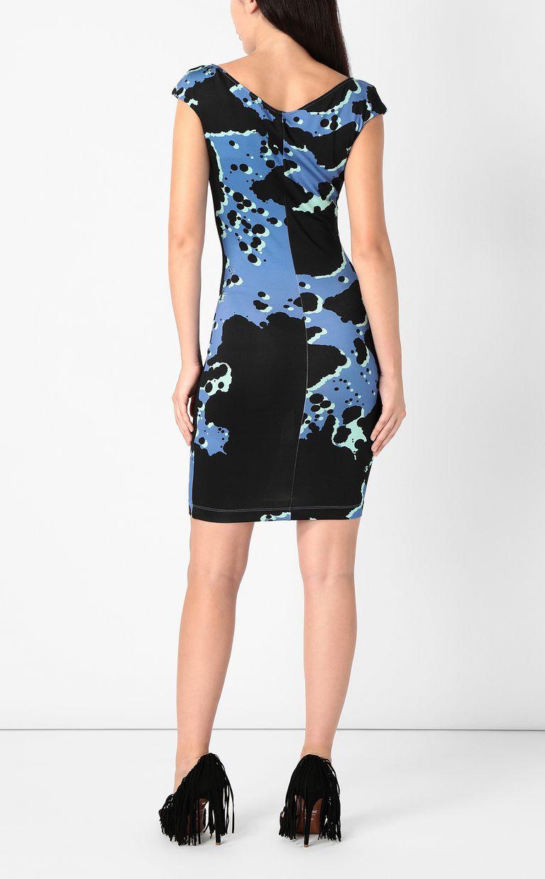 "JUST CAVALLI Dress with ""Sprayed Cow"" print Short dress Woman a"