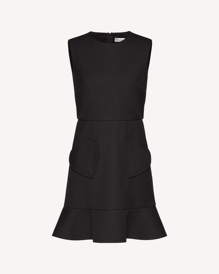 Hearts detail tricotine tech dress