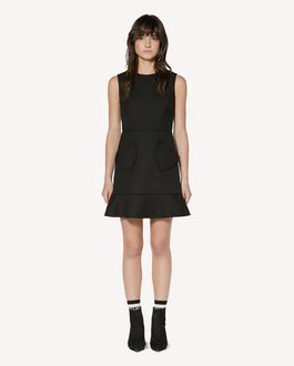 REDValentino Hearts detail tricotine tech dress