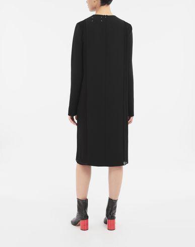 ПЛАТЬЯ Платье с деталью внахлёст Черный