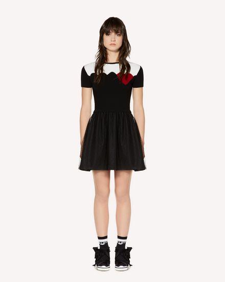 REDValentino Трикотажное платье Для Женщин SR3KDA704E5 0NO f