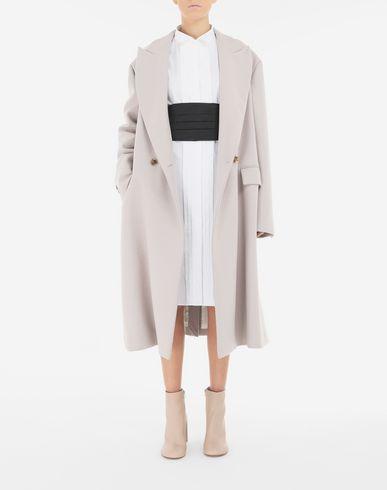 ワンピース・ドレス シャツドレス ベルト付き ホワイト