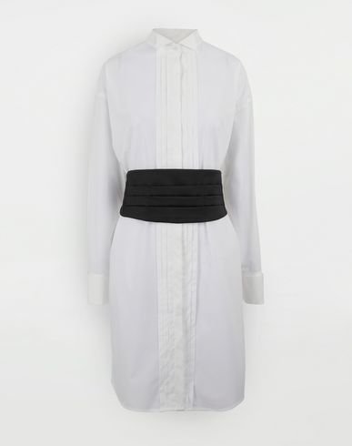 DRESSES Shirt-dress with belt White