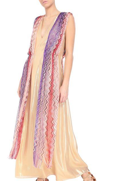 M MISSONI Long dress Gold Woman - Front