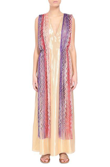 M MISSONI Long dress Gold Woman - Back
