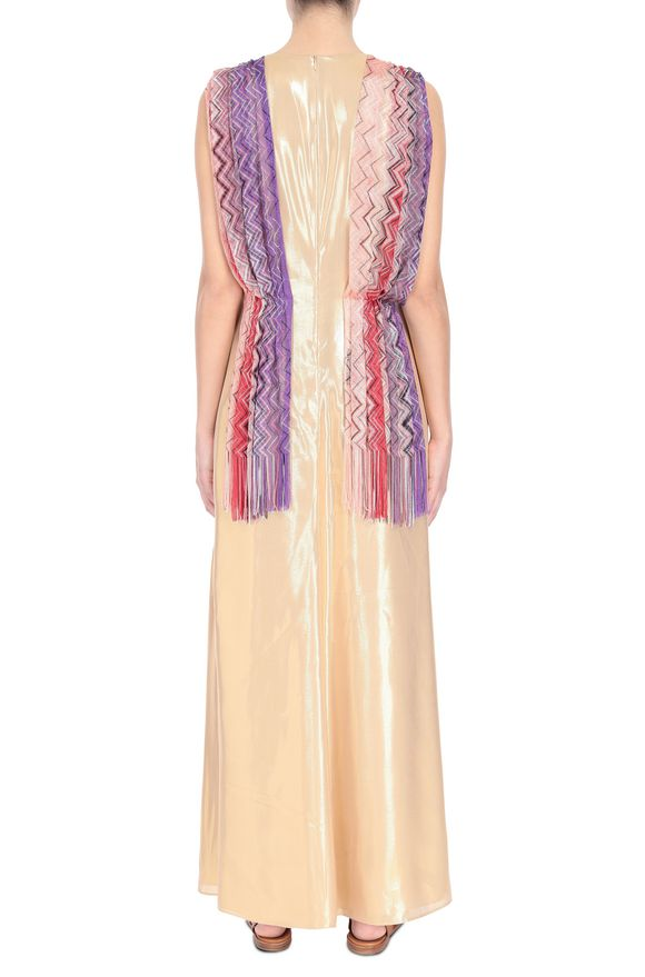 M MISSONI Длинное платье Золотистый Для Женщин
