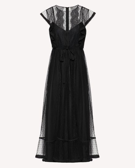 REDValentino Long and midi dresses Woman SR3VAF551GK 0NO a