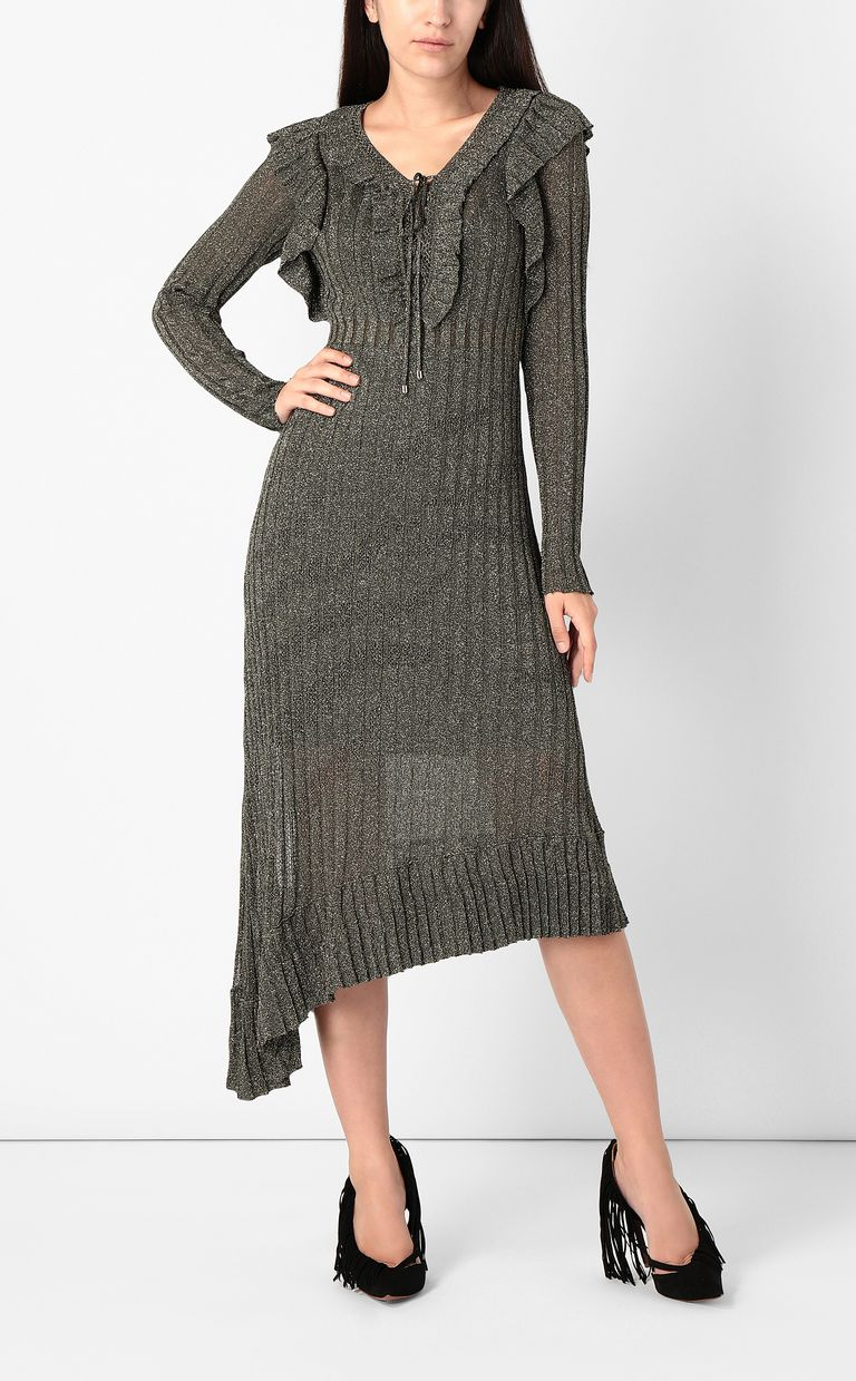 JUST CAVALLI Long dress in lurex Dress Woman d