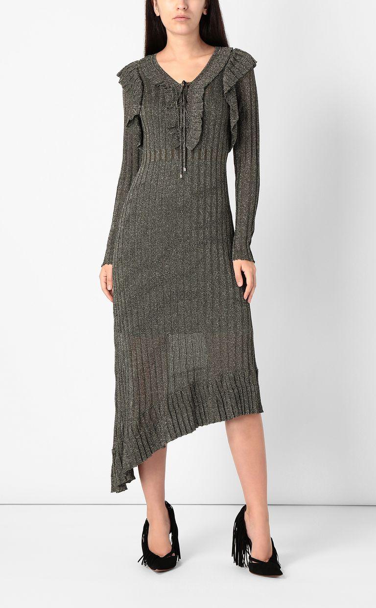 JUST CAVALLI Long dress in lurex Dress Woman r