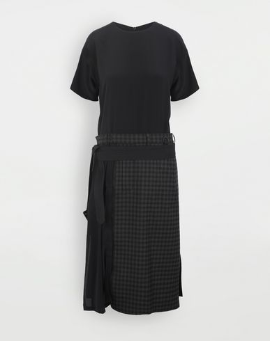 MAISON MARGIELA Reworked check dress 3/4 length dress Woman f