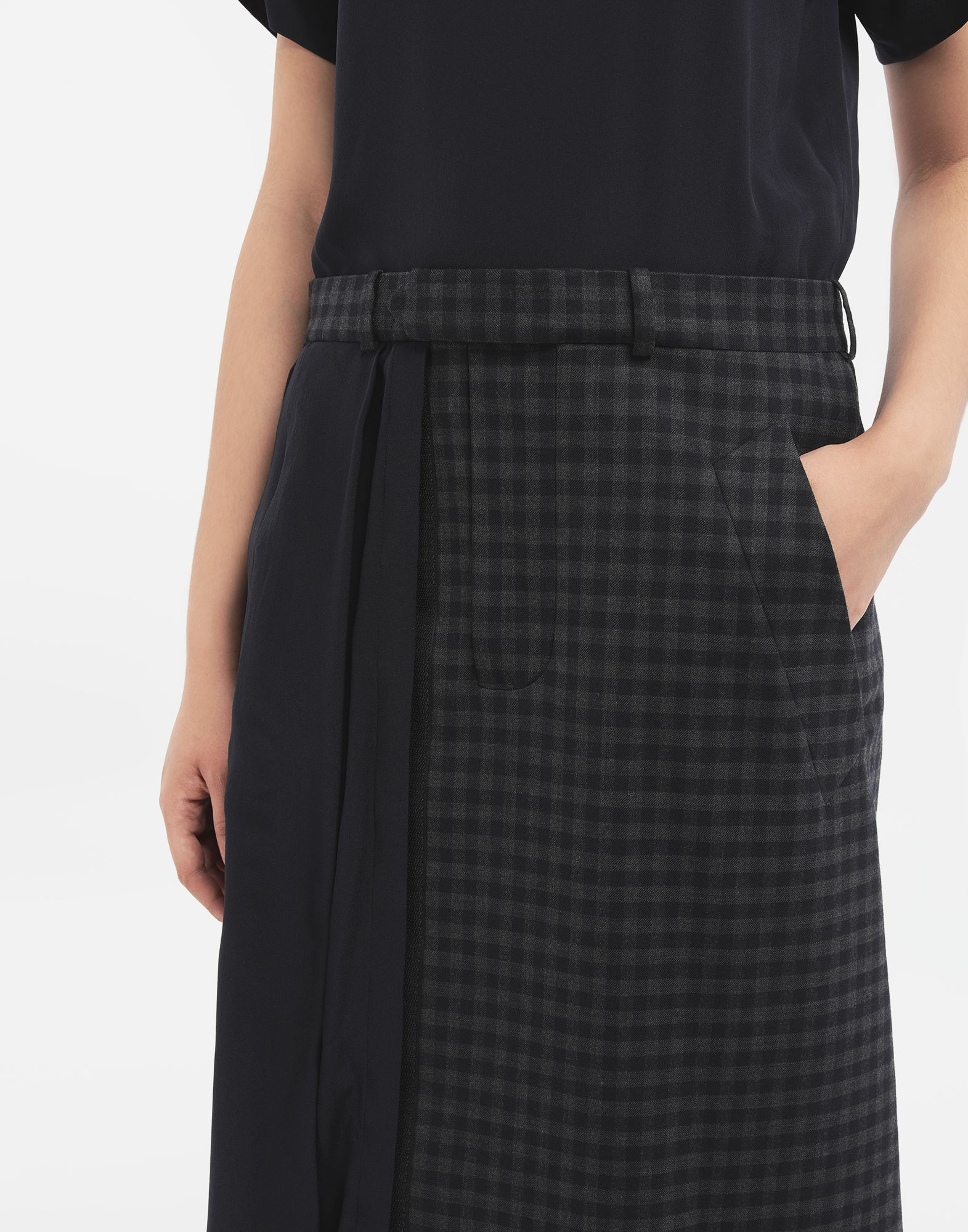 MAISON MARGIELA Reworked check dress 3/4 length dress Woman a