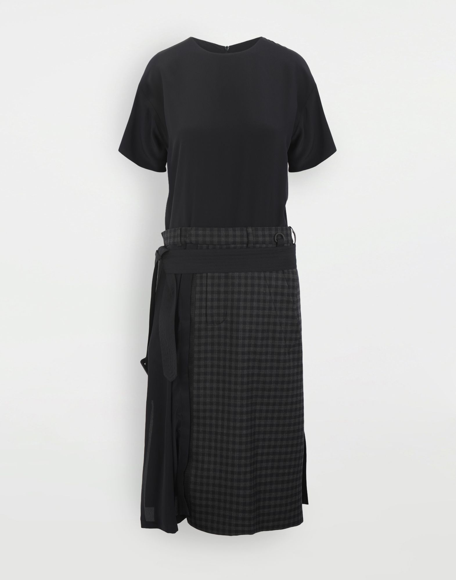 MAISON MARGIELA Reworked check dress Dress Woman f