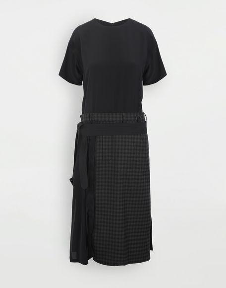 MAISON MARGIELA Reworked check dress 3/4 length dress Woman f