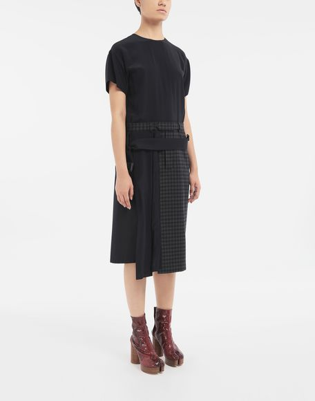 MAISON MARGIELA Reworked check dress 3/4 length dress Woman r