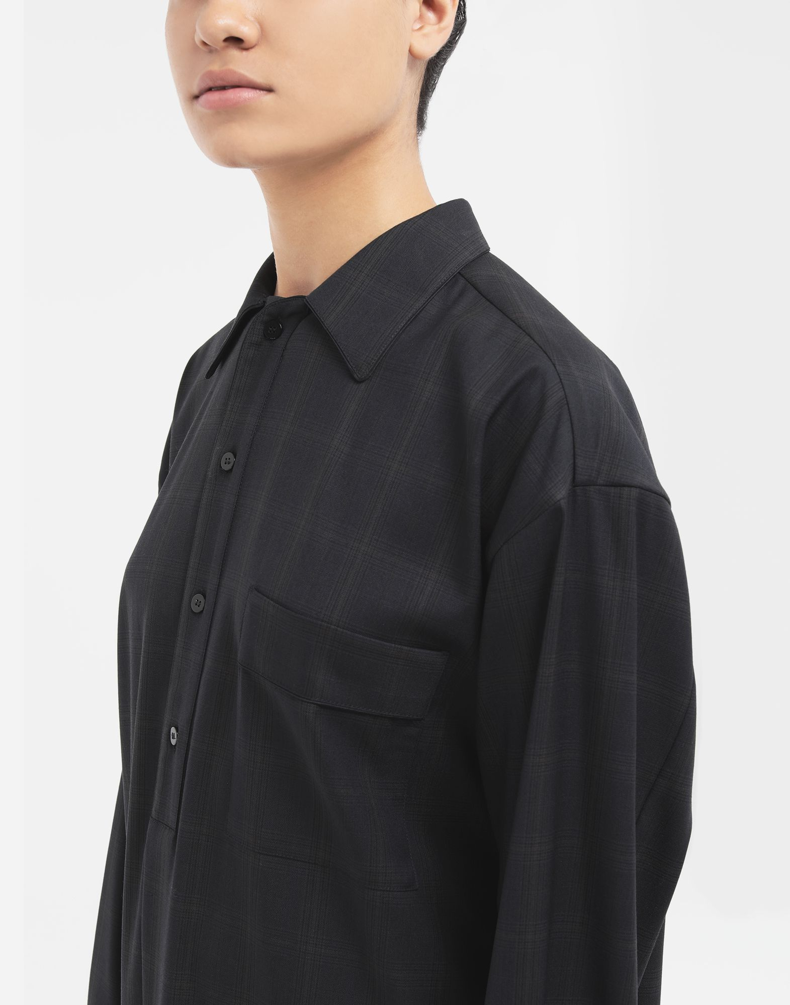 MAISON MARGIELA Kariertes Hemdkleid aus Wolle Kleid Dame a