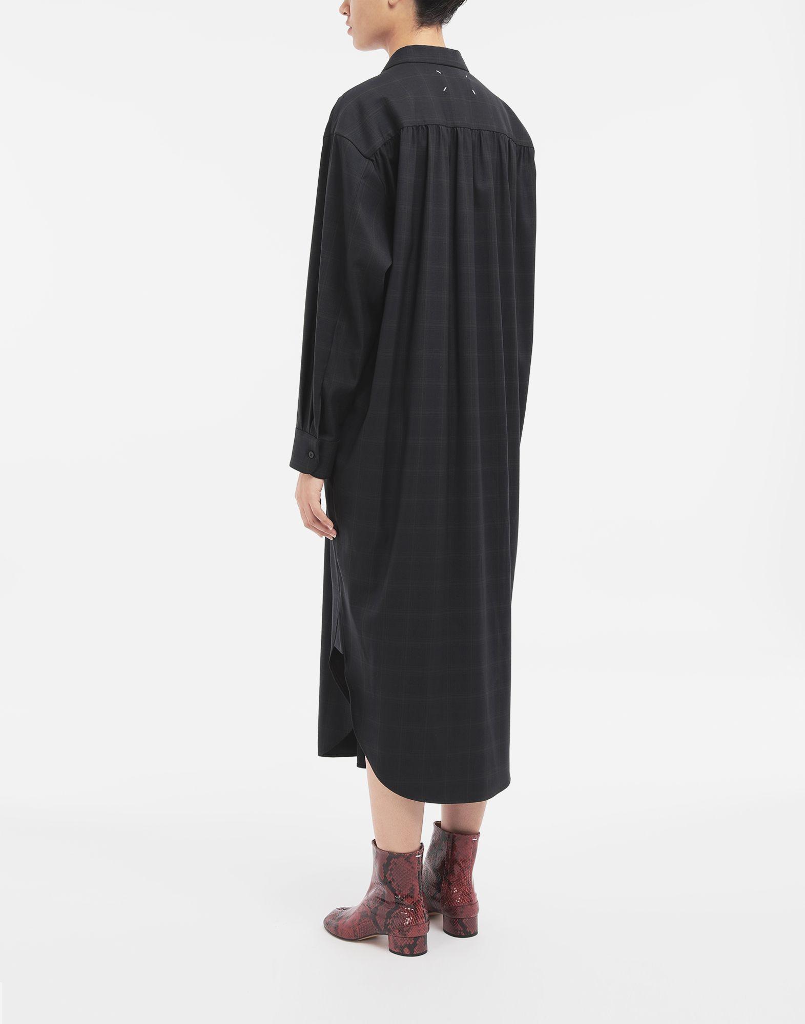 MAISON MARGIELA Kariertes Hemdkleid aus Wolle Kleid Dame e