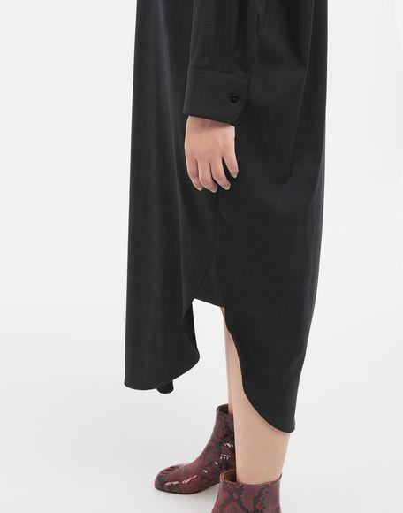 MAISON MARGIELA Kariertes Hemdkleid aus Wolle Kleid Dame b