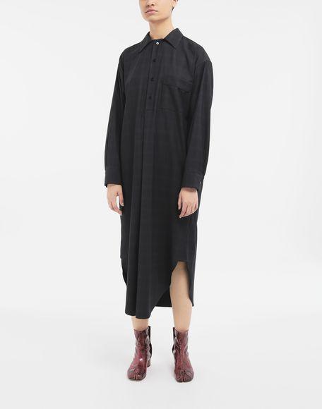 MAISON MARGIELA Kariertes Hemdkleid aus Wolle Kleid Dame r