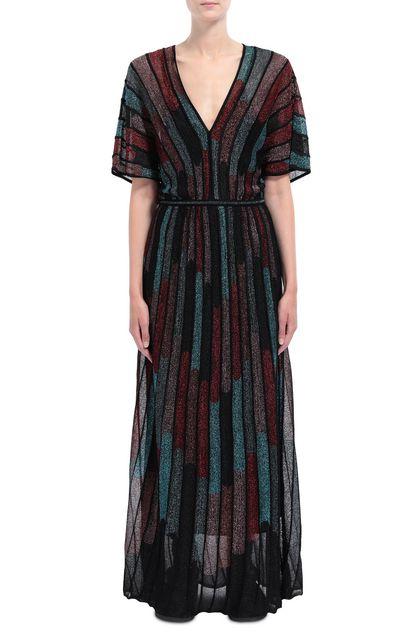 M MISSONI Langes Kleid Schwarz Dame - Rückseite