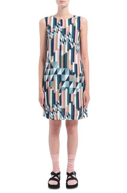 M MISSONI Dress Deep jade Woman - Back