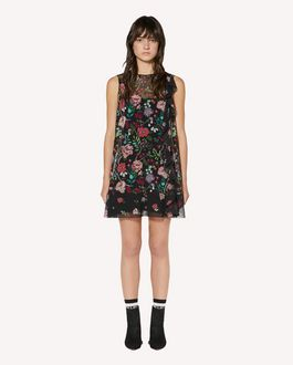 REDValentino Ruffle detail Cherry Blossom printed muslin dress