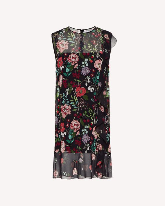 REDValentino Muslin dress with Cherry Blossom print and ruffle detailing