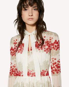 REDValentino Muslin dress with Dreaming Peony print