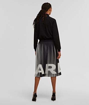KARL LAGERFELD RUE ST GUILLAUME PLEATED DRESS
