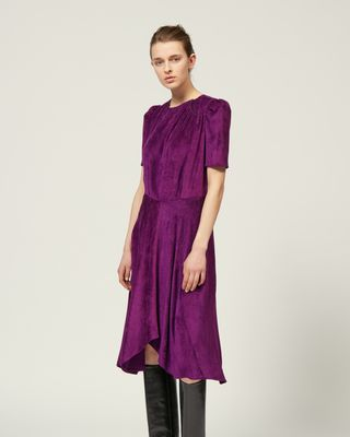 ISABEL MARANT MIDI DRESS Woman ULIA DRESS r