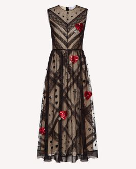 REDValentino Long dress Woman SR3VA02U4CR 0NO a