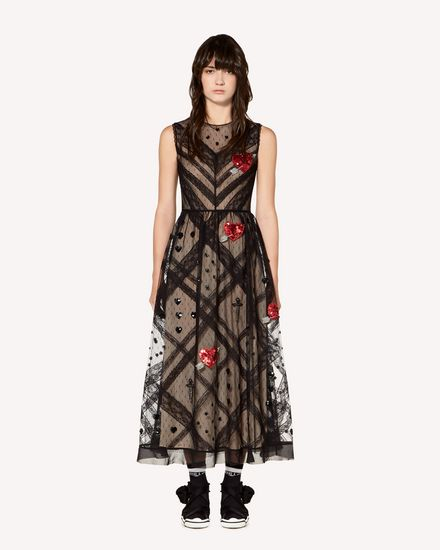 REDValentino Long dress Woman SR3VA03H4CE 0NO f