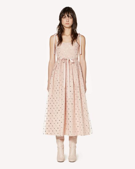 REDValentino Long and midi dresses Woman SR3VA03L4CJ N17 f
