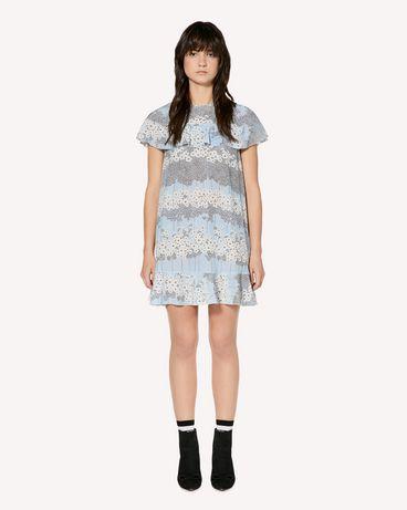 REDValentino Ruffle detail Dreaming Peony printed silk dress