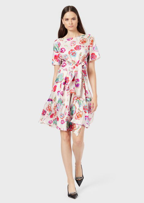 Silk dress with LeoFlower print