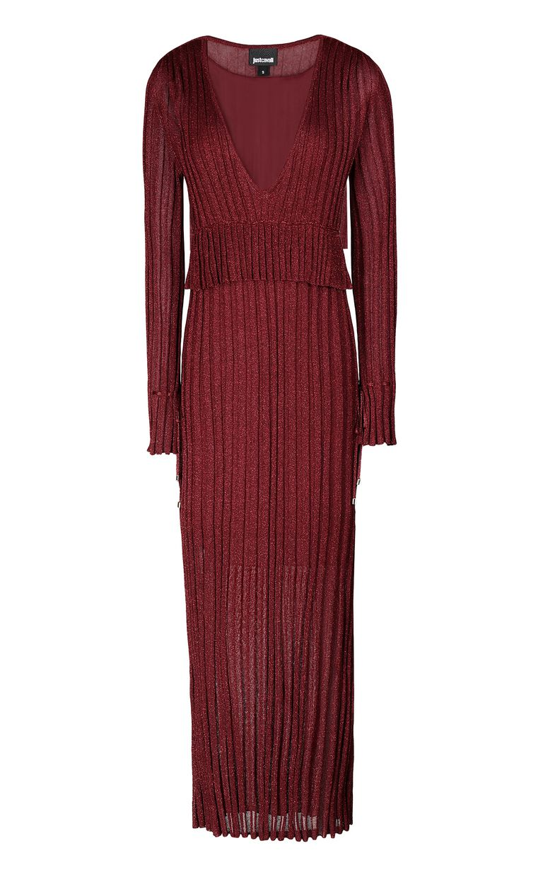 JUST CAVALLI Long dress in lurex Dress Woman f