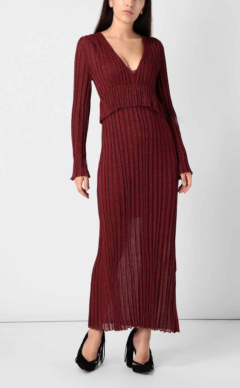 JUST CAVALLI Long dress in lurex Dress Woman r
