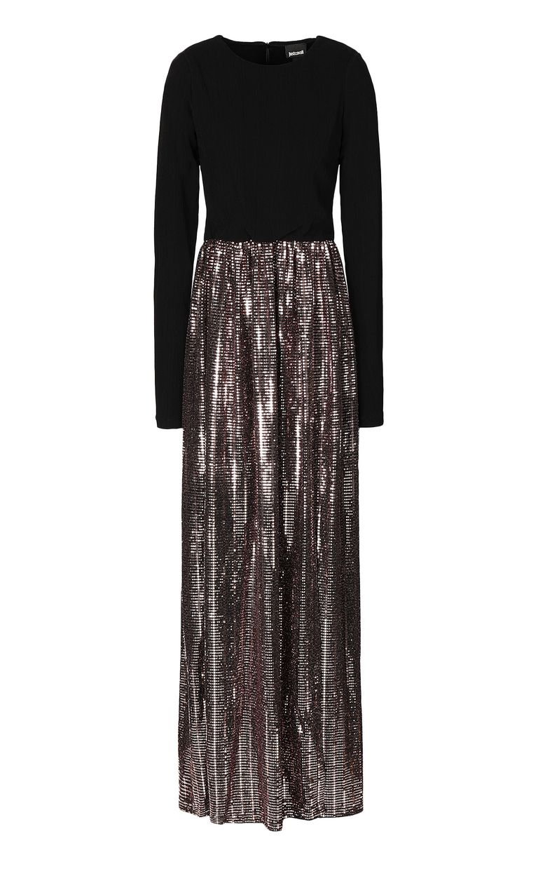 JUST CAVALLI Full-length dress with spangles Dress Woman f