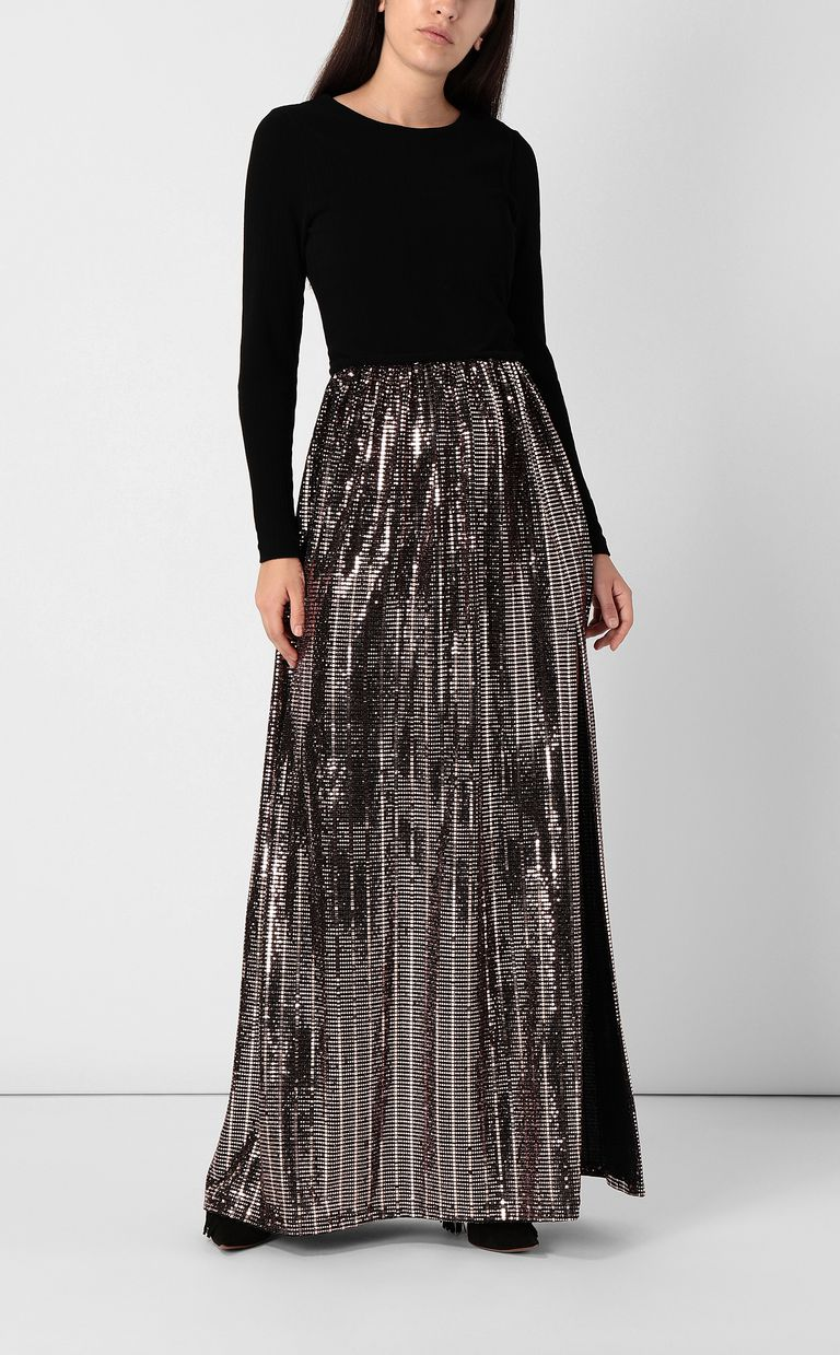 JUST CAVALLI Full-length dress with spangles Dress Woman r