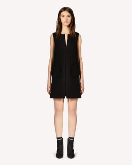 REDValentino Hearts detail wool cashmere dress