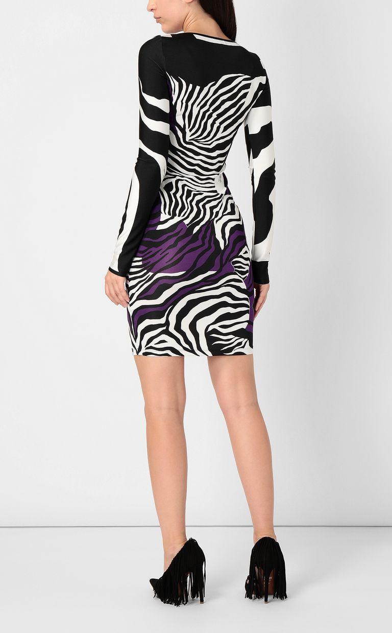 JUST CAVALLI Dress with zebra-stripe print Short dress Woman a