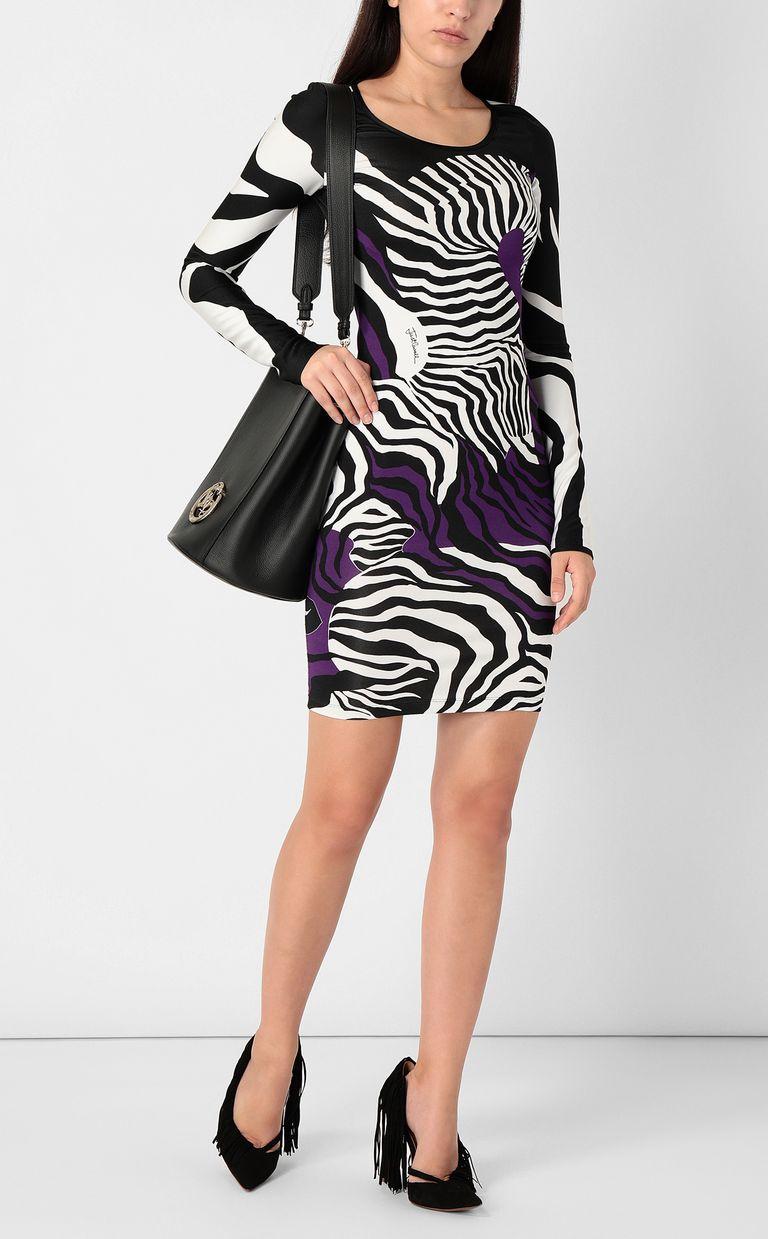 JUST CAVALLI Dress with zebra-stripe print Short dress Woman d