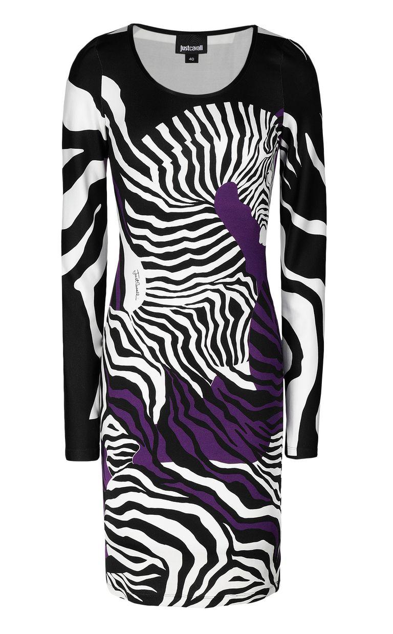 JUST CAVALLI Dress with zebra-stripe print Short dress Woman f